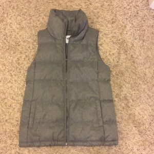 Grey old navy vest